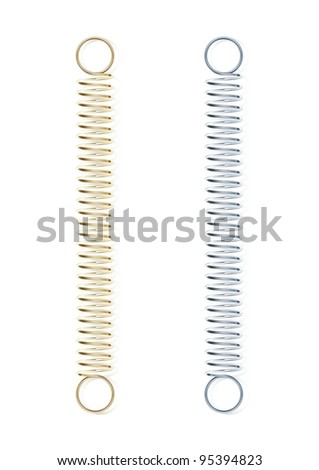 steel spring vector illustration isolated on white background - stock vector