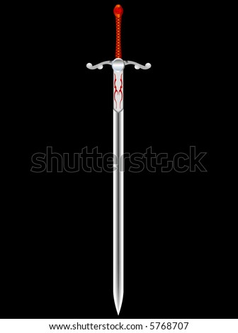 steel sword of the knight on a