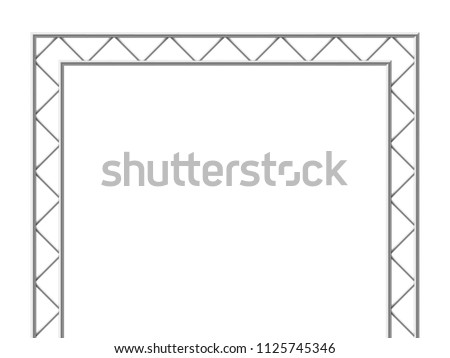 Steel truss girder 3d construction equipment. Metal framework isolated vector illustration. Framework steel, schematic material prefabricated project #1125745346