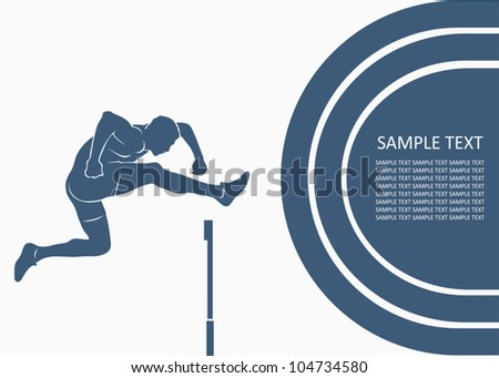 Steeplechase race - vector background