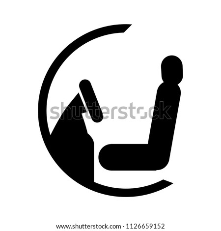 steering chair icon - car seat illustration, transportation icon
