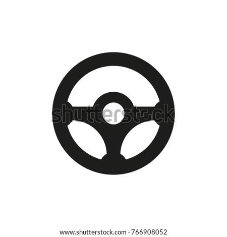 steering wheel car vector icon