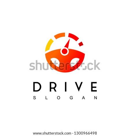 Steering Wheel, Drive Logo Design Inspiration