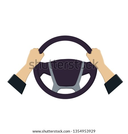 Steering wheel hands, vector graphics #1354953929