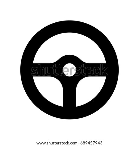 Steering wheel icon.