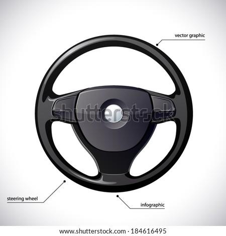 Steering wheel isolated.