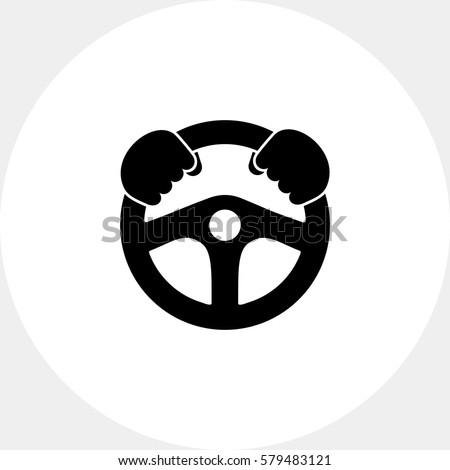Steering wheel simple icon
