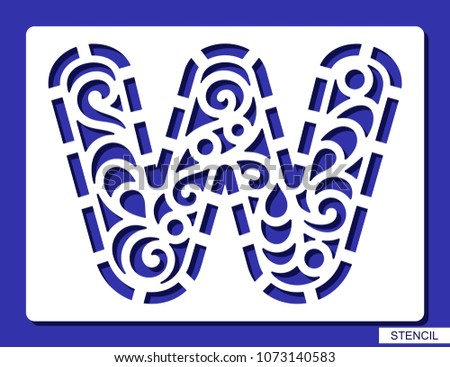 Stenciled laser cut type font vector download free vector art lacy letter w template for laser cutting wood carving spiritdancerdesigns Choice Image