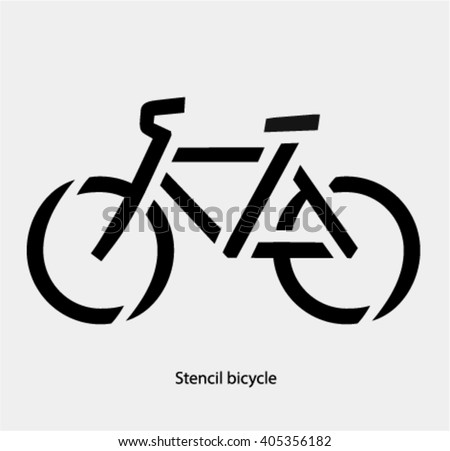 Bicycle Stencil 6 Free Vector Graphic Images Free Vectors