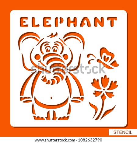 stencil for children elephant