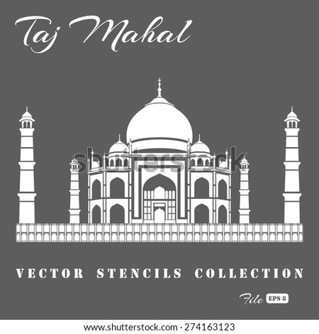 stencil of the taj mahal on a