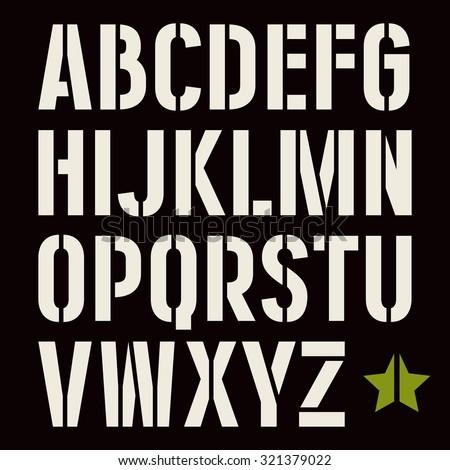 Stencil Font Free Vector Art - (22 Free Downloads)