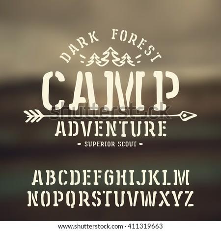 stencil plate slab serif font...