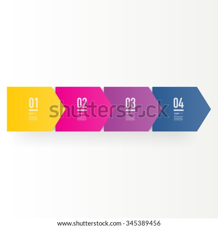 Step by step infographic design 3d boxes on simple background with numbers and text  can be used for workflow layout, diagram, chart, number options, web design.  Eps 10 stock vector illustration