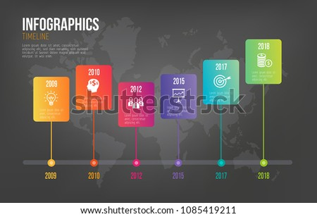 Step by step infographics - can illustrate a strategy, workflow, team work or it can highlight company milestones.