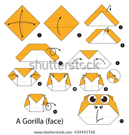 how to draw a gorilla face easy