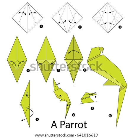 Step By Step Instructions How To Make Origami A Crawling Crow
