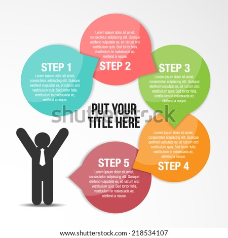 Step By Step To Success Infographic Template