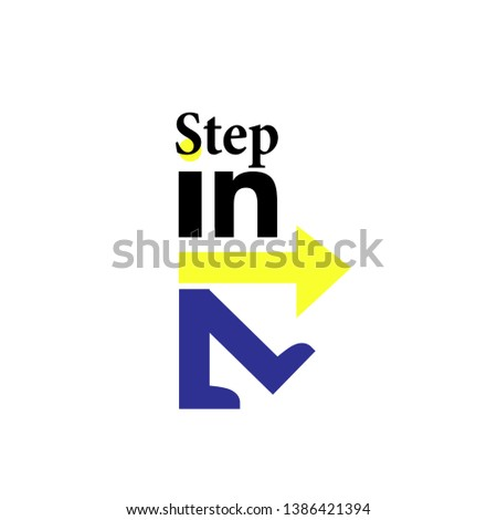step in business, funny cartoon illustration for t-shirt