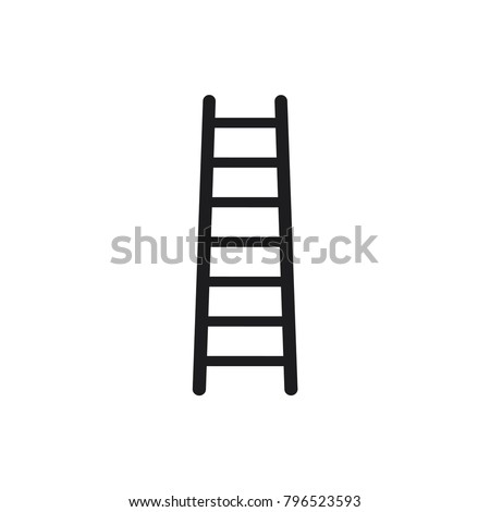 step ladder icon, ladder icon in trendy flat style