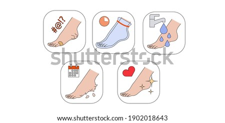 Steps how to apply foot mask.Peeling feet at home.Peeling socks.Step-by-step instructions for using a foot mask.