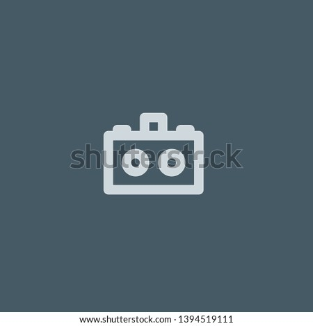 Stereo Camera vector icon. Stereo Camera concept stroke symbol design. Thin graphic elements vector illustration, outline pattern for your web site design, logo, UI. EPS 10.