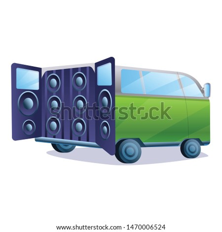 Stereo car music system icon. Cartoon of stereo car music system vector icon for web design isolated on white background