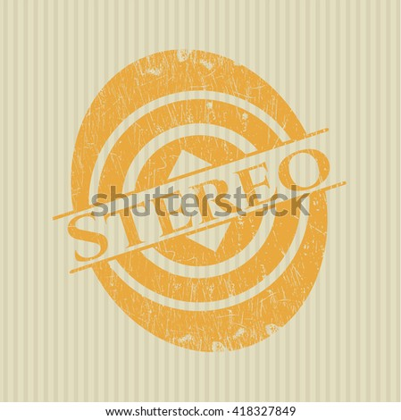 Stereo grunge stamp