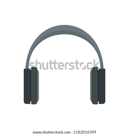 Stereo headphones icon. Flat illustration of stereo headphones vector icon for web design