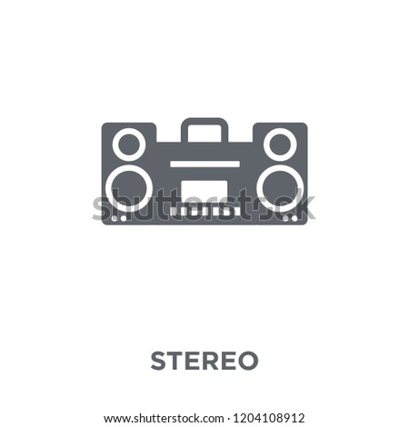 stereo icon. stereo design concept from Electronic devices collection. Simple element vector illustration on white background.