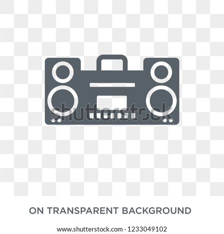 stereo icon. stereo design concept from Electronic devices collection. Simple element vector illustration on transparent background.
