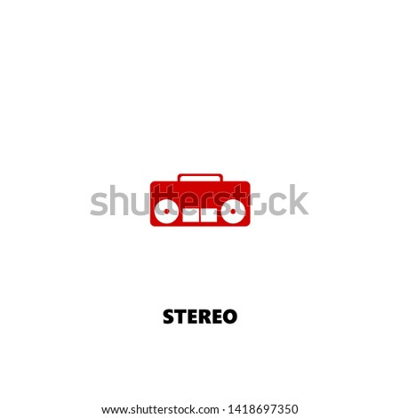 stereo icon. stereo vector design. sign design. red color