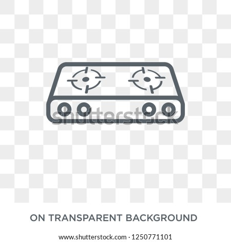 stereo icon. Trendy flat vector stereo icon on transparent background from Electronic devices collection. High quality filled stereo symbol use for web and mobile