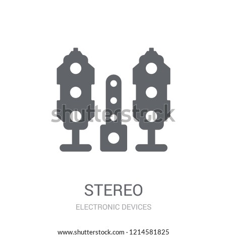 stereo icon. Trendy stereo logo concept on white background from Electronic Devices collection. Suitable for use on web apps, mobile apps and print media.