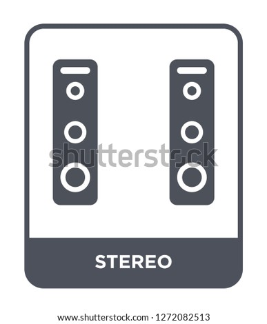 stereo icon vector on white background, stereo trendy filled icons from Electronic devices collection, stereo simple element illustration