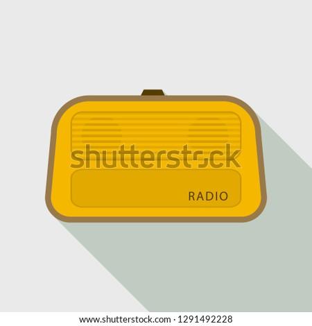 Stereo radio icon. Flat illustration of stereo radio vector icon for web design