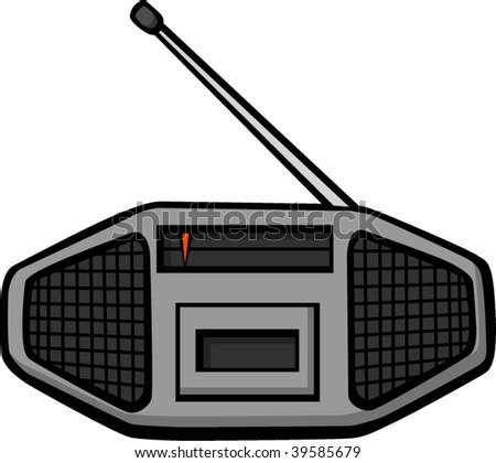 stereo radio tape player