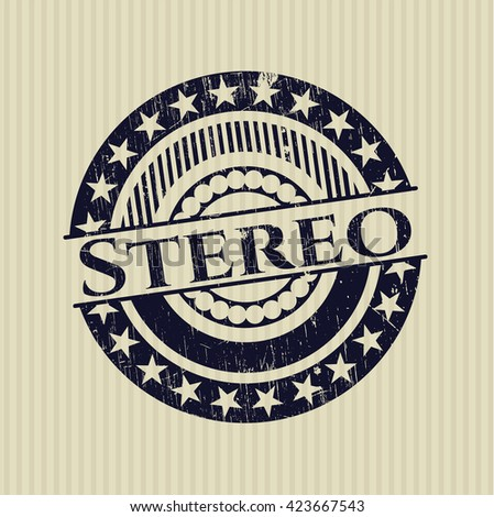 Stereo rubber grunge stamp