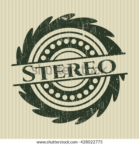 Stereo rubber grunge texture seal
