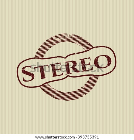 Stereo rubber seal