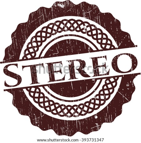 Stereo rubber seal with grunge texture