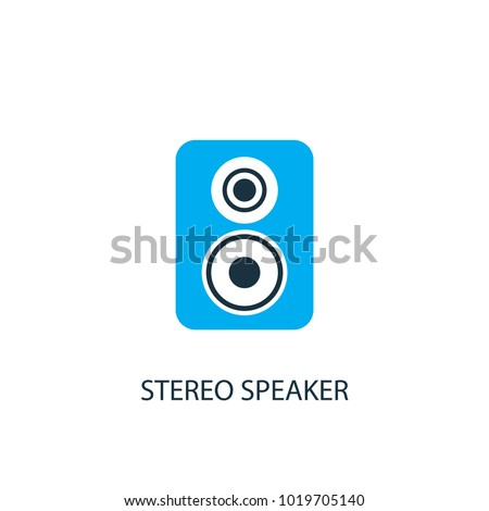Stereo speaker icon. Logo element illustration. Stereo speaker symbol design from 2 colored collection. Simple Stereo speaker concept. Can be used in web and mobile.