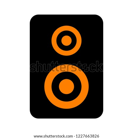 stereo speaker icon. vector sound system speakers - music icon