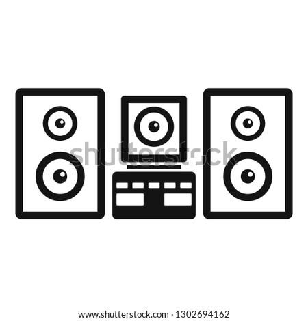 Stereo system icon. Simple illustration of stereo system vector icon for web design isolated on white background