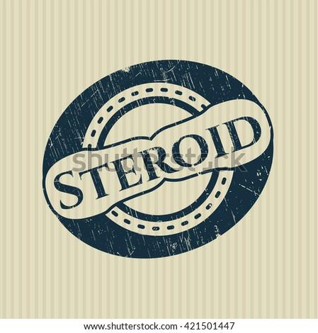 Steroid grunge stamp