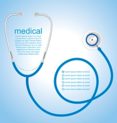 Stethoscope background, medical concept, vector 10