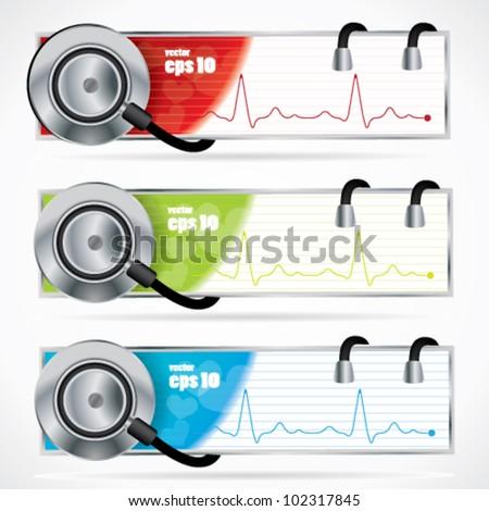 Stethoscope banner set