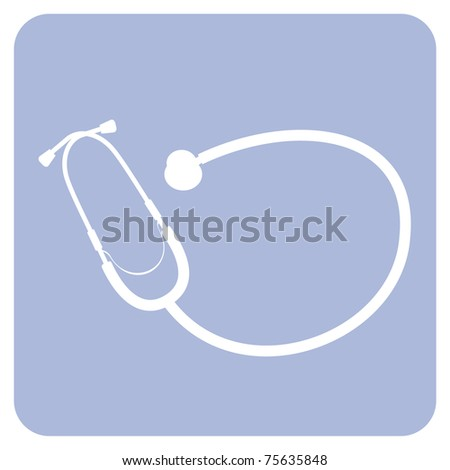 Stethoscope icon. Vector availabe