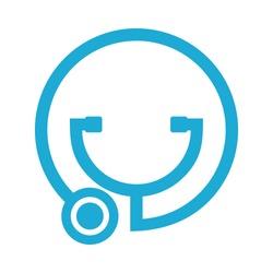 stethoscope logo. medical icon. health symbol. vector eps 08.