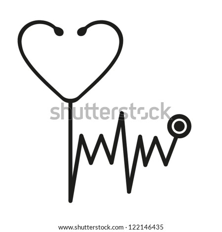 Stethoscope.Vector. EPS-10 (non transparent elements, non gradient)
